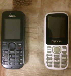 Телефон Nokia и Dexp