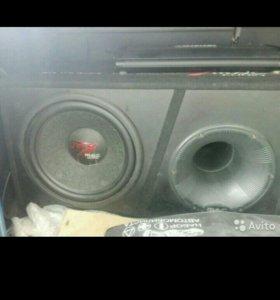 Самбуфер mas audio и усилитель mystery