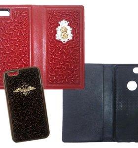 Чехлы и накладки на телефоны, натуральная кожа