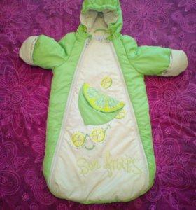 Утепленный конверт для малыша