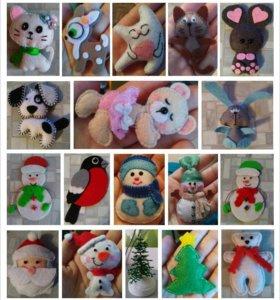 мягкие игрушки из фетра
