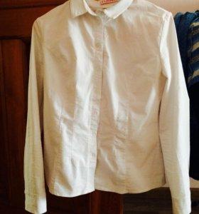 Рубашка школьная размер 44