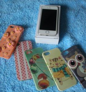 iPhone 5s 16G + чехлы