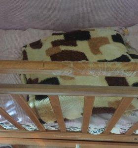 кроватка+одеяло+матрас+бортики и постельное белье