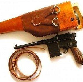 Кобура деревянная для немецкого пистолета Маузер C