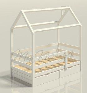 Кровать-домик детская 1600х800 (массив сосны)