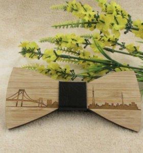 Деревянные галстук-бабочка