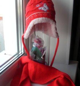 Новая зимняя шапочка+шарфик