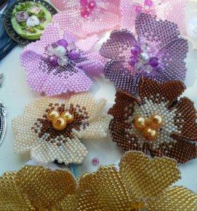 Резиночки для волос из бисера