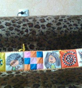 Бортик в кроватку декоративный