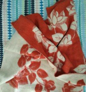Двуспальное шерстяное одеяло