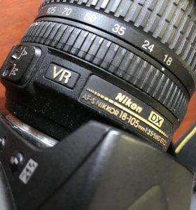 Nikon D90 + VR 18-105 + сумка