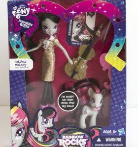 My little pony кукла набор Октавия и пони новый