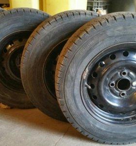 4 Шины Dunlop graspic DS3 185/70 R14 88Q (б.у.)