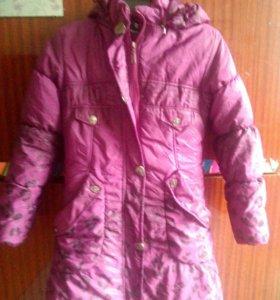 Куртка зимняя на девочку 10 лет