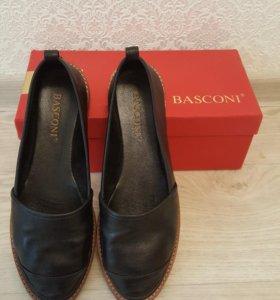 Новые Слипоны Basconi натуральная кожа