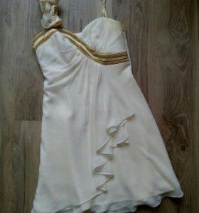 Белое вечернее (выпускное) платье