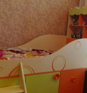 Кровать-чердак+шкаф-купе 👍