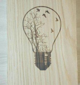 Скетчбук из натурального дуба - ВАКУУМ