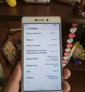Продам Xiaomi redmi 3