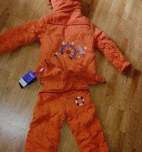 Полукомбинезон зимний новый,комплект,костюм.