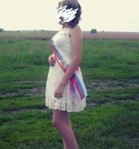 Платье с кружевом!
