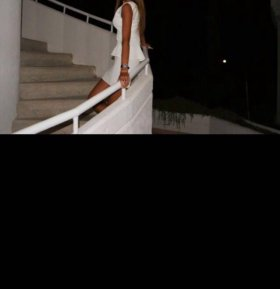 Летнее платье с баской белое