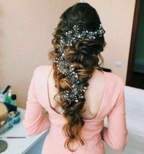 Веточка для украшения причёски невесты