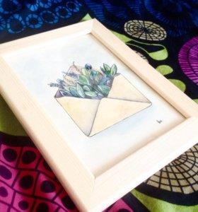 Иллюстрация в рамке