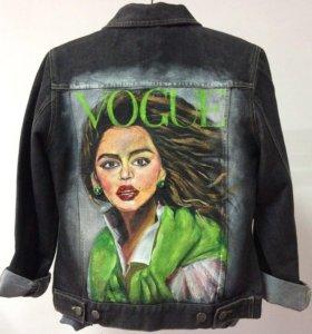 Джинсовая куртка ручная роспись