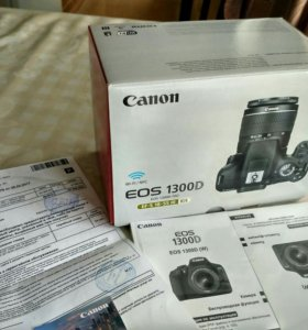 Новая Canon 1300d (на гарантии)