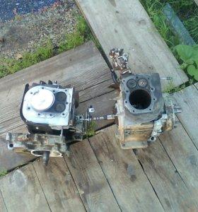 Два двигателя от угры надо два шатуна