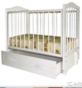 Детская кровать-колыбель Кристина белая