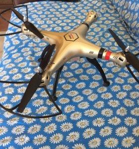 Квадрокоптер (дрон) Syma x8hc с комплектующими