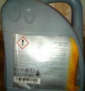 Масло моторное (оригинал)Мерседес Бенц 5 литров