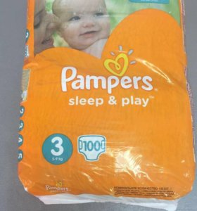 Подгузники Pampers Sleep&Play 3 (5-9 кг), 100 шт