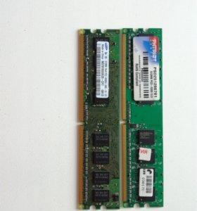 Оперативная память 2х512 ddr2