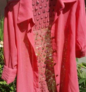 Удлинённая блузка