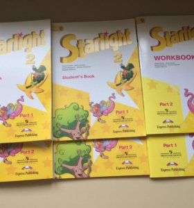 Starlight 2 кл учебник, раб.тетрадь, teachers book