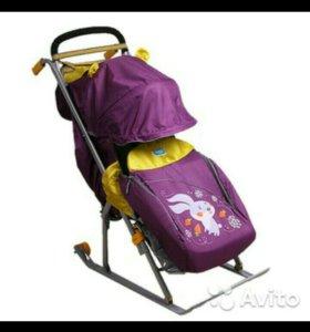 Санки-коляска Ника 5