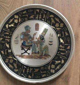 Тарелка металические декоративная