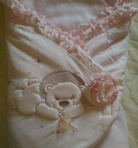 Конверт- одеяло на выписку б/у