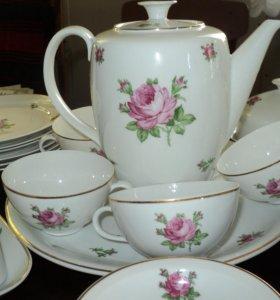 Чайный сервиз на 6 персон ГДР ,фарфор.