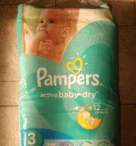 Pampers Active Baby Dry 3 (62 шт.)