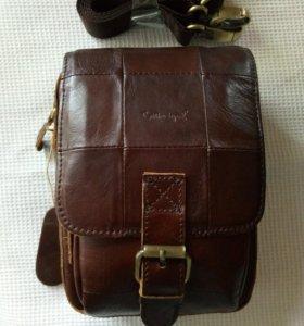 Мужская кожаная сумка. Новая