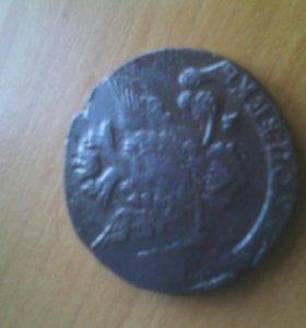 Монета пять копеек 1778 г