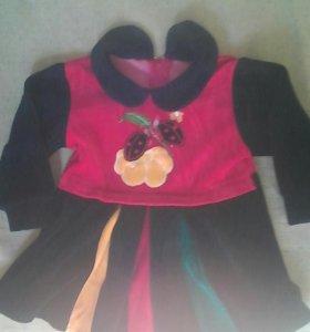 Платье велюр до года