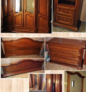 Набор мебели для спальни из массива дуба