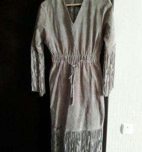 Замшевое (натуральная кожа) платье р42-44
