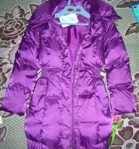 Пуховик новый (куртка зимняя) рост 140см (134см)